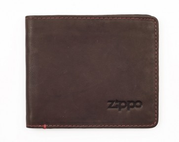 Leather bi-fold wallet. Brown
