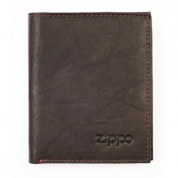 Leather Vertical Wallet. Mocha