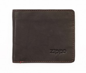 Leather bi-fold wallet. Mocha