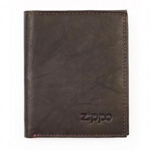 Leather Vertical Wallet. Mocha