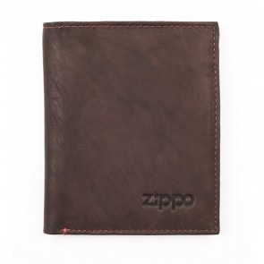 Leather Vertical Wallet. Brown.