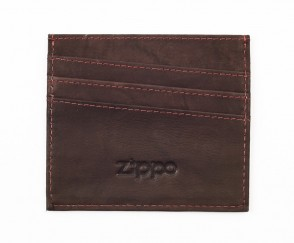 Leather credit card holder. Brown