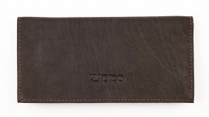 Leather tri-fold tobacco pouch. Mocha