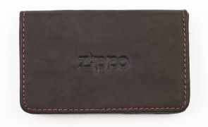 Leather business card holder. Mocha