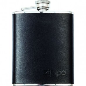 Zippo flask. Leather wrapped 177 ml